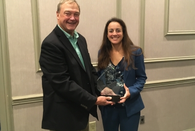 Attorney Danielle Justo presented Special Merritt Award by Habitat for Humanity Figure